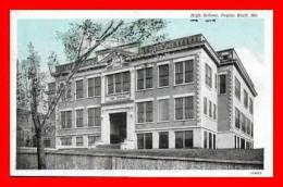 CPA  POPLAR BLUFF (Misouri-Etats-Unis).  High School, écolel Publique. .A889 - Etats-Unis