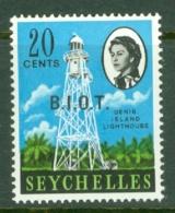 British Indian Territory (BIOT): 1968   QE II - Pictorial 'B.I.O.T.' OVPT   SG4    20c   MNH - British Indian Ocean Territory (BIOT)