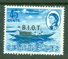 British Indian Territory (BIOT): 1968   QE II - Pictorial 'B.I.O.T.' OVPT   SG7    45c   MNH - British Indian Ocean Territory (BIOT)