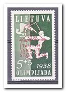 Litouwen 1938, Plakker MLH, Archery, Scouting Overprint - Litouwen