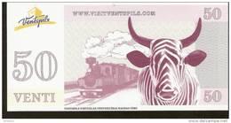 Latvia Ventspils - 50 VENTI  Coupon - Cow Parade Railway Train - Lettland