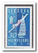 Litouwen 1938, Plakker MLH, Swimming, Scouting Overprint - Litouwen