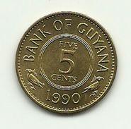 1990 - Guyana 5 Cents - Guyana