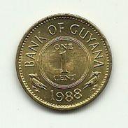 1988 - Guyana 1 Cent - Guyana