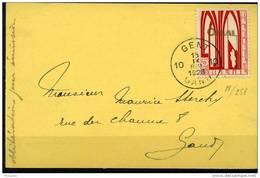 PREMIER JOUR Orval  5c Seul Sur CP    15.09.1928   Cote 80 Seul Sur Document - Belgien