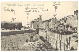 Cpa Vachères - Le Boulevard - France
