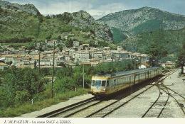 05  L'ALPAZUR  La Rame TRAIN SNCF à SERRES - Autres Communes