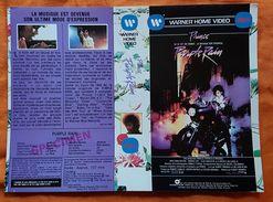 JAQUETTE - K7 VIDEO - SPECIMEN - PRINCE - PURPLE RAIN - MUSIQUE - 1985 - WARNER HOME BROS - Merchandising
