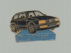PINS PIN'S AUTO  AUTOMOBILE VOITURE VW VOLKSWAGEN GOLF DIETTER - Opel