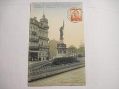 """CPA  ANVERS Monument Commémoratif De La """"Furie Française""""  1913 T.B.E. Colorisée - Antwerpen"""