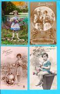 Lot De 12 Cpa Carte Postale Ancienne - Paques - Pâques
