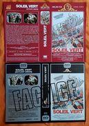 JAQUETTE - LOT DE 2 - VHS SECAM - SCIENCE FICTION - SOLEIL VERT - MGM/RCV - 1973/1986 - CHARLTON HESTON - Non Classés