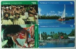 TUVALU - 1st Issue Set Of 4 - GPT - $2, 5, 10 & 20 - Mint - Tuvalu