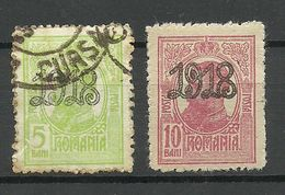 ROMANIA Rumänien 1918 Michel 238 - 239 O/* - 1881-1918: Carol I