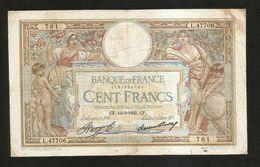 "FRANCE - BANQUE De FRANCE - 100 FRANCS ""LUC OLIVIER MERSON"" (CF. 14 - 3 - 1935) - 1871-1952 Antichi Franchi Circolanti Nel XX Secolo"