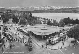 ZÜRICH → Bellevueplatz Mit Unzähligen Trams Anno 1956 - ZH Zurich