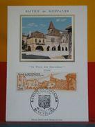 Coté 2,50€ > Bastide De Monpazier Place Des Cornières > Monpazier (24)> 5.7.1986 > FDC 1er Jour Carte Maxi - Cartes-Maximum