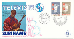 Suriname FDC 20-10-1966 Complete Set Introduction Of Television In Surinam With Cachet - Surinam ... - 1975
