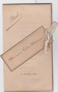 MENU-NOBLESSE-REGION-MONS-SAINT-SYMPHORIEN-VALERE MAHIEU-02.04.1911-VOYEZ LES 2 SCANS-IMP.J&C.ARNOULD-MONS-DIM:16-18CM - Menus