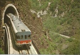 06  Le CHEMIN DE FER DE TENDE  Train Sortant Du Tunnel De VERARDO - France