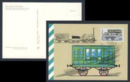 DDR Germany 1990 Card / Postkarte + Mi 3357 - Erster Bahnpostwagen (1842) / Travelling Post Office Van - Treinen