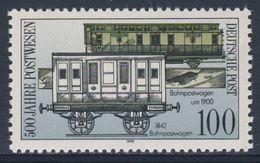 DDR Germany 1990 Mi 3357 YT 2960 ** Travelling Post Office Vans (1842 + 1900) / Bahnpostwagen - Treinen
