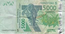 BILLETE DE GUINEA BISSAU DE 5000 FRANCS DEL AÑO 2003  (BANKNOTE) - Guinea-Bissau