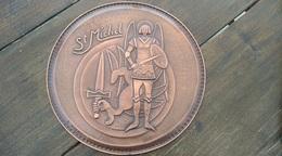 Dinant. Cuivre. Saint Michel. Pièce Unique - Kupfer