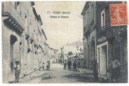 Cpa Pignan - Chemin De Saussan - France