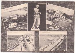 315  SALUTI DA ANZIO ROMA 5 VEDUTE ANIMATA 1961 - Altre Città