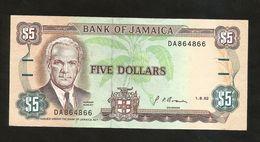 JAMAICA - BANK Of JAMAICA - 5 Dollars (1992) - Jamaica