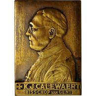 France, Medal, K.J Calewaert, Bisschop Van Gent, Brackenier, TTB, Bronze - Belgium