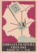 322 - GIORNATA FILATELICA FRIULANA UDINE 1950  MOSTRA ARTIGIANATO - Borse E Saloni Del Collezionismo