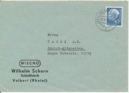 Germany Cover Velbert (Rheinl) 27-10-1959 Single Franked - [7] Federal Republic