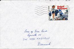 Belgium Cover Sent To Denmark 2-11-1993 Single Franked - Belgium