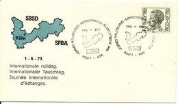 Belgium Cover 1-5-1973 International Stamp Exchange Day With Cachet - Belgium