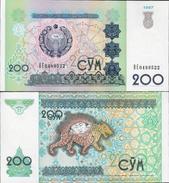 Uzbekistan 1997 - 200 Sum - Pick 80 UNC - Uzbekistan