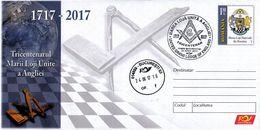 ROMANIA : MASONIC / FRANC MAÇONNERIE / FREE MASONRY : UNITED GRAND LODGE OF ENGLAND : 300 YEARS : 1717 - 2017 (w-680) - Franc-Maçonnerie