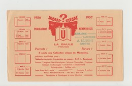 BUVARD MEMENTO USEL LA BAULE FRANCE , Tampon Librairie Papeterie A. LEJEUNE SAINT-LO - Stationeries (flat Articles)