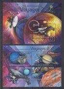 BURUNDI 2012 - Astronomie, Satellites, Voyager 2 - Feuillet 4 Val + BF Neufs // Mnh // CV 36.00 Euros - Burundi