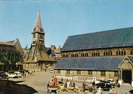 14. HONFLEUR . MARCHE DEVANT L'EGLISE SAINTE CATHERINE. ANNÉE 1965 - Honfleur