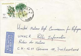 Rwanda 1987 Kigali Tree Parinari Excelsa UNHCR Cover - 1980-89: Afgestempeld