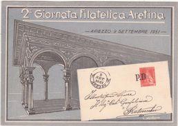 325 - 2° GIORNATA FILATELICA ARETINA AREZZO 1951 - Borse E Saloni Del Collezionismo