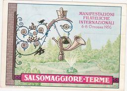 326 - MANIFESTAZIONI FILATELICHE INTERNAZIONALI 1956 SALSOMAGGIORE TERME - Bolsas Y Salón Para Coleccionistas
