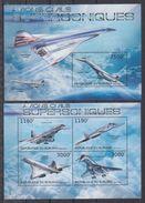 BURUNDI 2012 - Avions Supersoniques, Concorde - Feuillet 4 Val + BF Neufs // Mnh // CV 36.00 Euros - Burundi