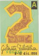 329 - 2 GIORNATA FILATELICA FOGGIA 1956 - Borse E Saloni Del Collezionismo