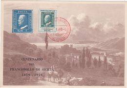 332 - CENTENARIO DEL FRANCOBOLLO DI SICILIA 1959 MONREALE - Borse E Saloni Del Collezionismo
