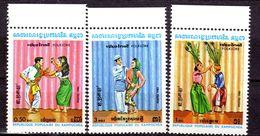 CAMBODIA/1983/MNH/SC#400-402/FOLK DANCES - Dance