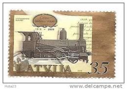 Latvia 2009 - Train Latvian Railway History Used (o ) - Lettonie
