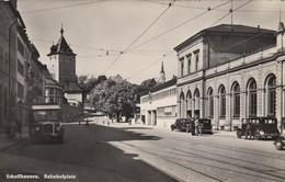 11368-SCHAFFHAUSEN-BAHNHOFPLATZ-1951-FP - SH Schaffhouse